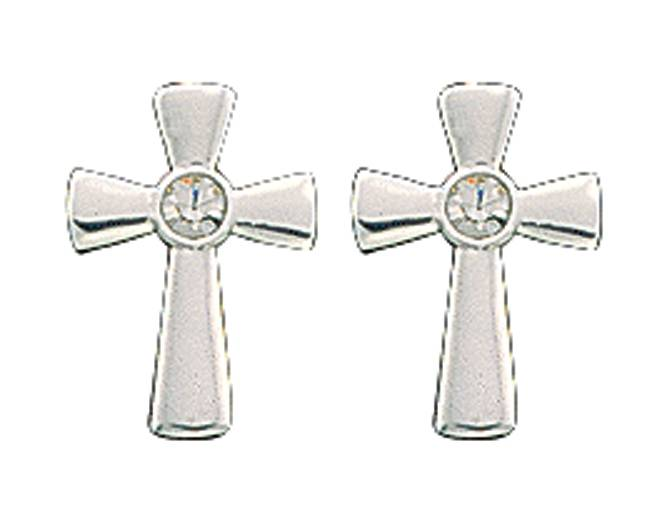 Montana Silversmiths Tiny Silver Cross Post Earrings