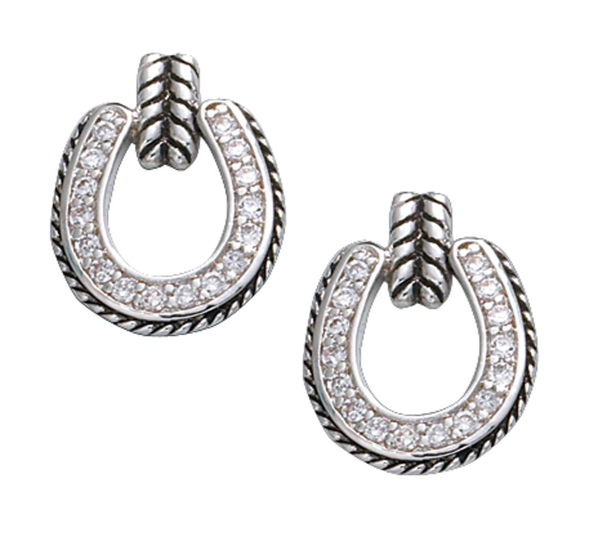 Montana Silversmiths Crystal Horseshoe Drop Earrings