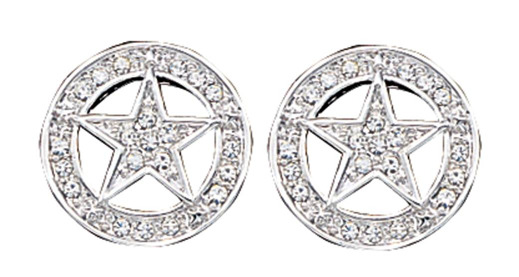 Montana Silversmiths Clear Rhinestone Studded Star Earrings