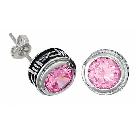 Montana Silversmiths Pink Barbed Wire Stud Earrings
