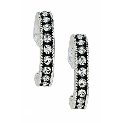 Montana Silversmiths Crystal Shine Cuff Earrings