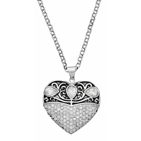 Montana Silversmiths Vintage Charm Something Old Something New Heart Necklace