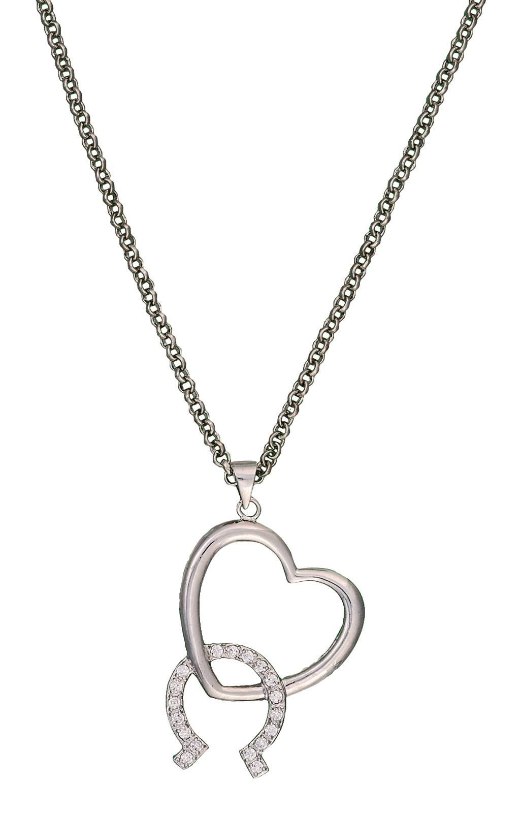 Montana Silversmiths Hooked on You Horseshoe and Heart Necklace