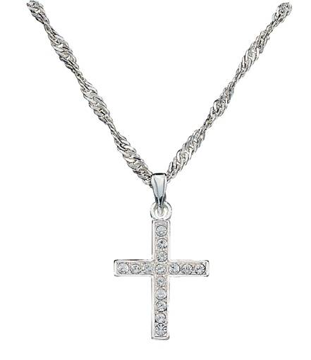 Montana Silversmiths Rhinestone Cross Necklace