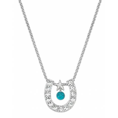 Montana Silversmiths Crystal Horseshoe with Turquoise Necklace