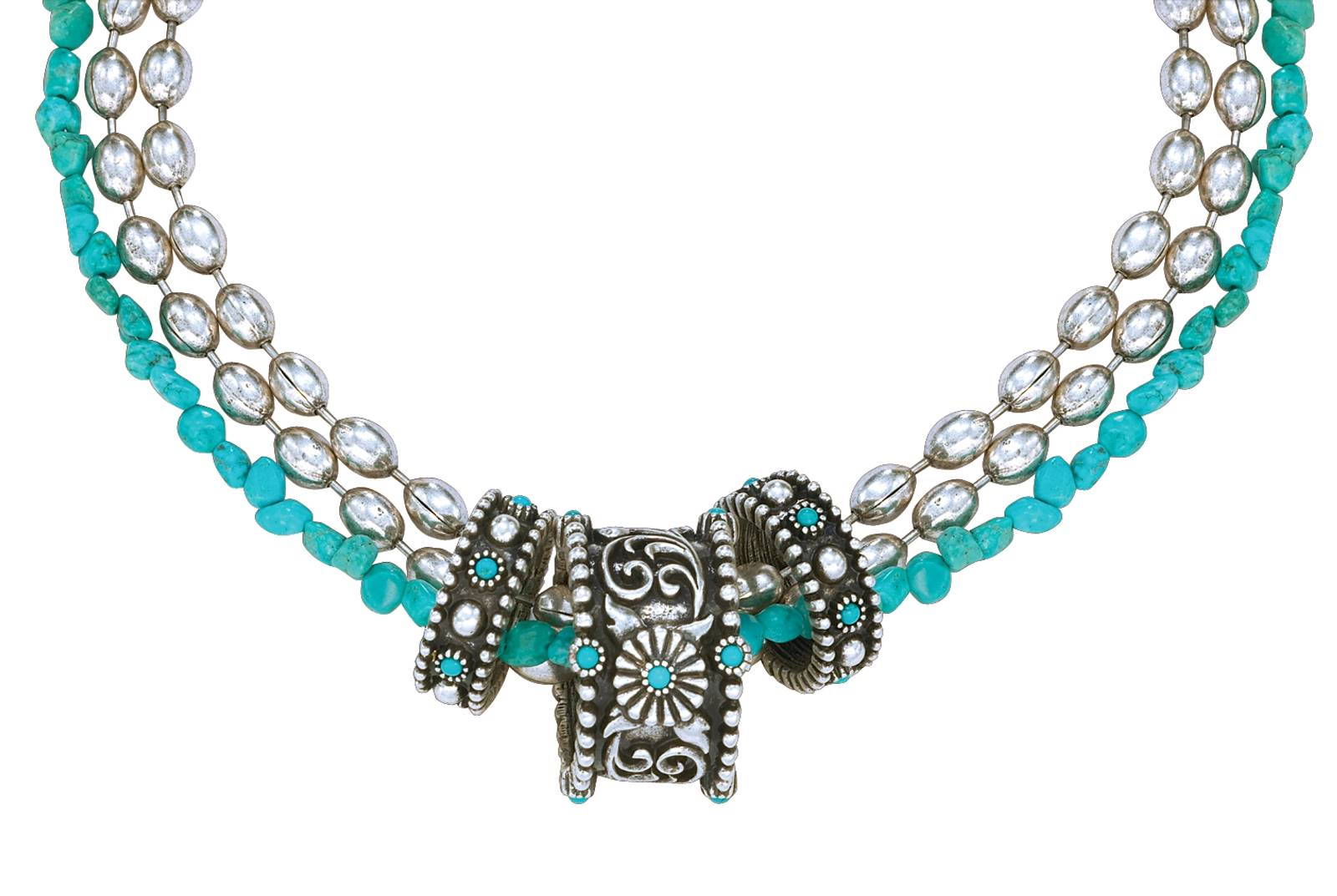 Montana Silversmiths Turquoise Passion Flower Rings Torsade Necklace