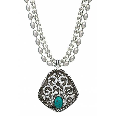 Montana Silversmiths Vintage Turquoise Drop Necklace