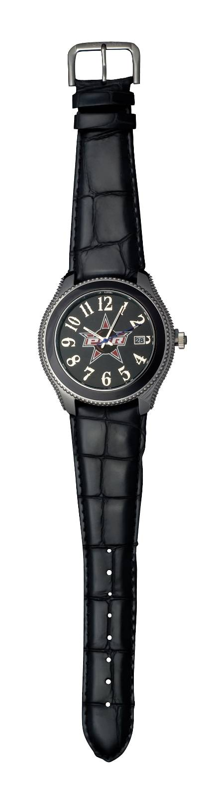 Montana Silversmiths PBR Round Face and Black Crocodile Watch