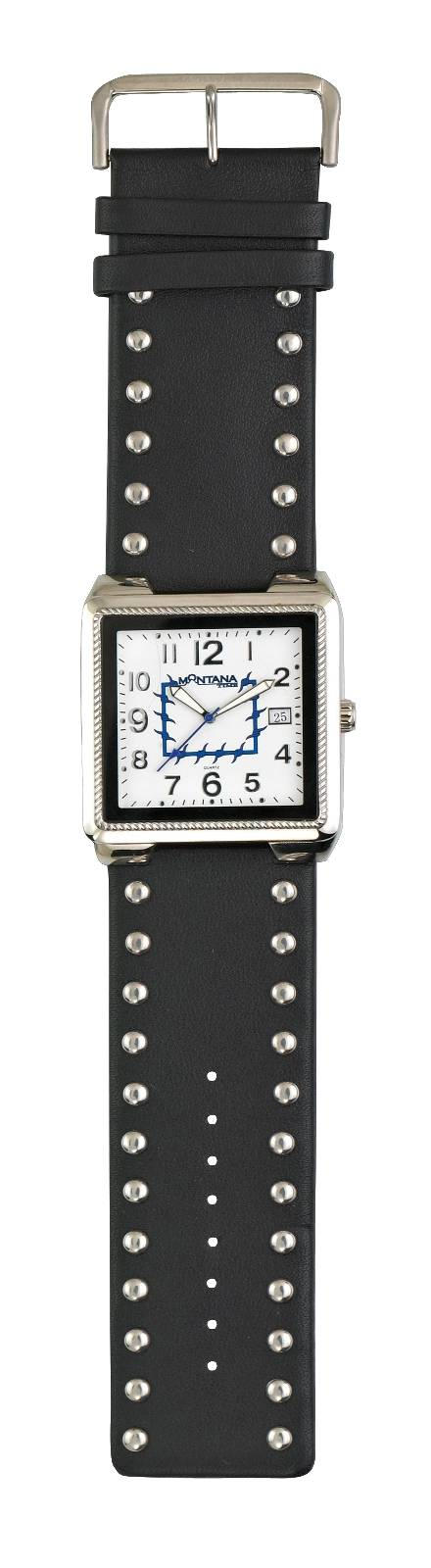 Montana Silversmiths Barbed Wire and Silver Genuine Leather Cuff Watch