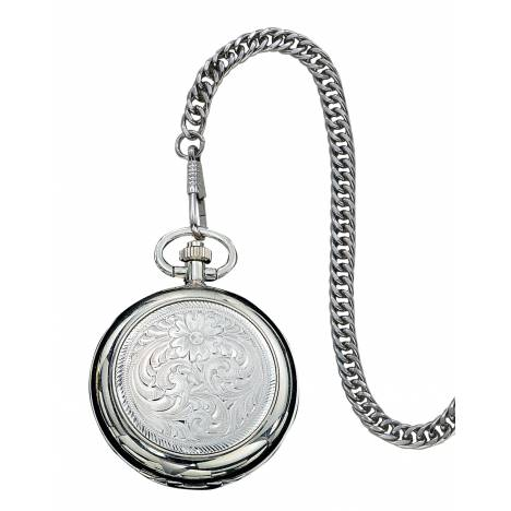 Montana Silversmiths Engraved Silver Watch