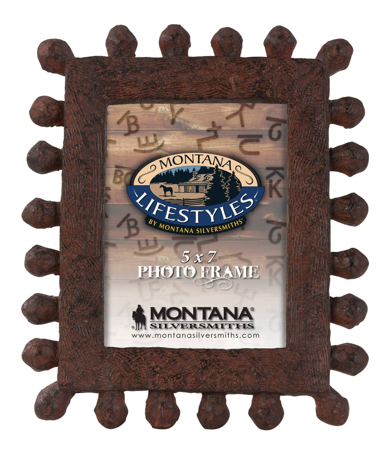 Montana Silversmiths Rustic Studs Photo Frame