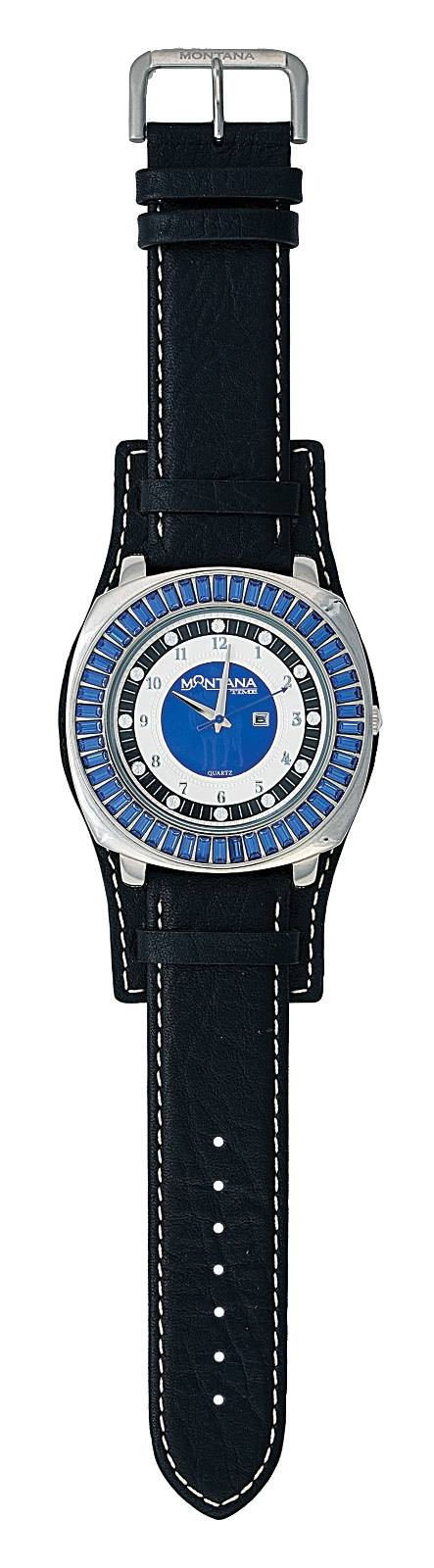Montana Silversmiths Big Blue Leather Band Watch