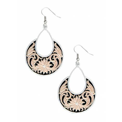 Montana Silversmiths Rose Gold Bitterroot Garden Dangle Earrings