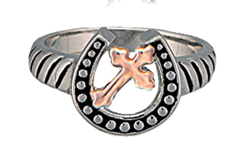 Montana Silversmiths Walking God's Path Horseshoe Ring