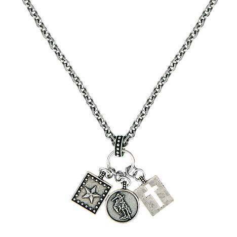 Montana Silversmiths Hard Work, Faith and Dreams Charm Necklace