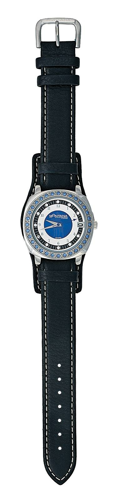 Montana Silversmiths Little Blue Leather Band Watch