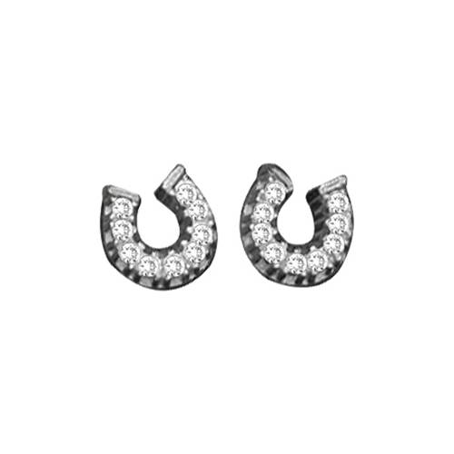 Kelly Herd Baby Horseshoe Earrings