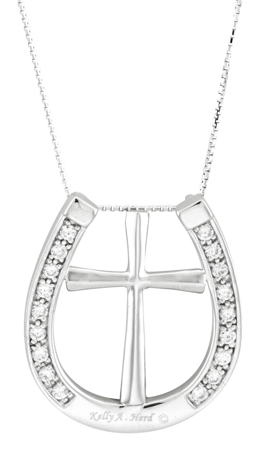 Kelly Herd Cross and Horseshoe Pendant