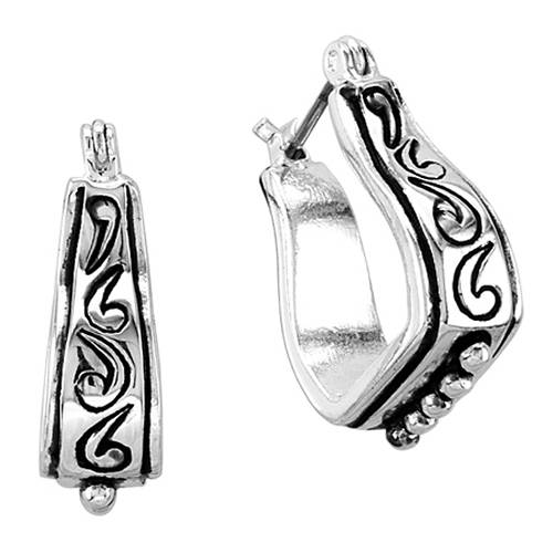 Kelly Herd .925 Sterling Silver Baby Stirrup Earrings