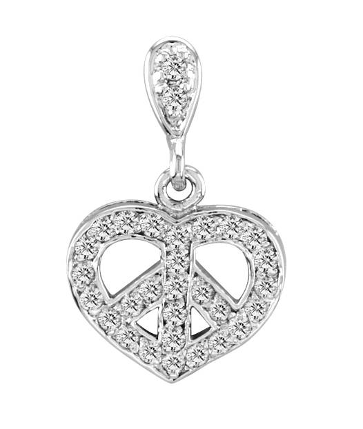 Kelly Herd Heart Peace Pendant