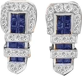 Kelly Herd Blue Buckle Earrings