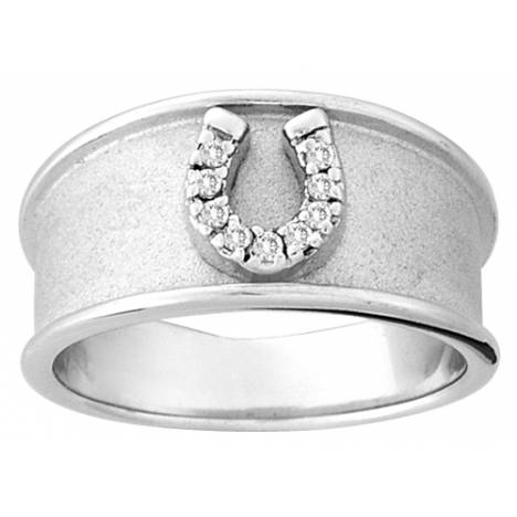 Kelly Herd Wide Band Horseshoe Ring