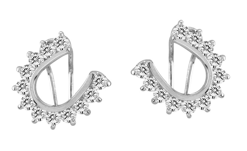 Kelly Herd Cubic Zirconia Horseshoe Earrings
