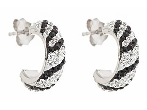 Cheetah Pattern Small Hoop Earrings