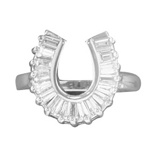 KH Baguette Horseshoe Ring
