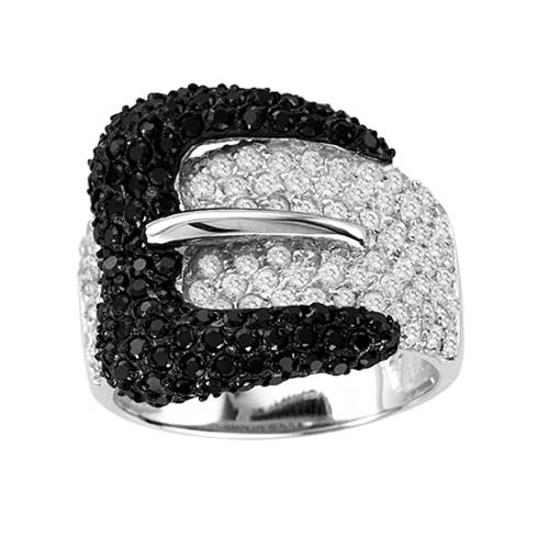KH Large Black Buckle Ring