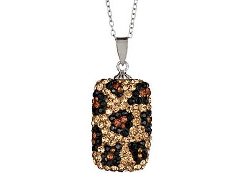 Kelly Herd Cheetah Pendant Necklace