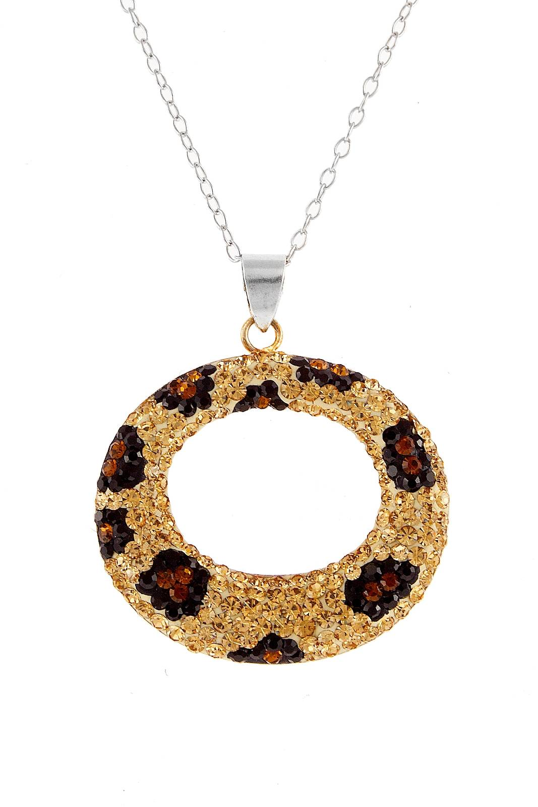 Cheetah Pattern Circle Pendant