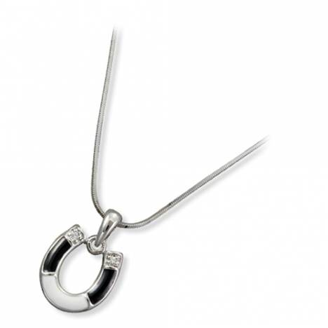 Kelly Herd Black & White Horseshoe Necklace