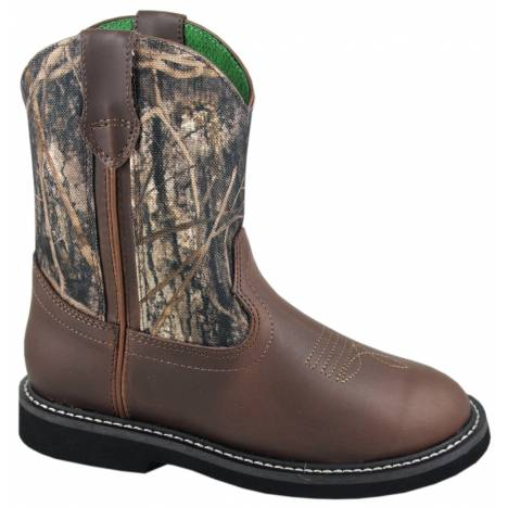 Smoky Mountain Hickory Wellington Boots - Kids, Brown/Camo