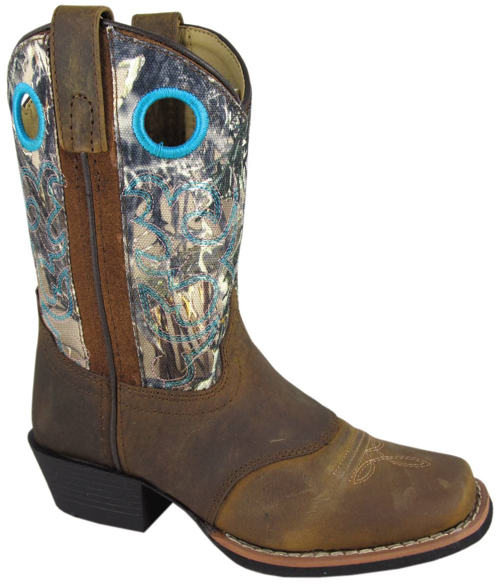 Smoky Mountain Sedona Western Boots - Kids, Brown/Camo