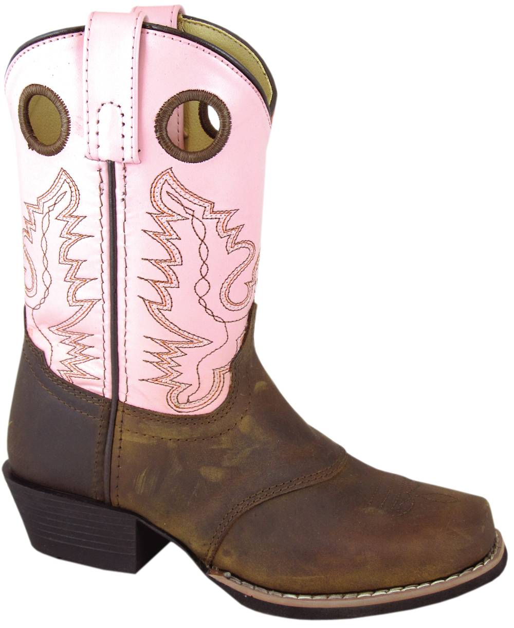 Smoky Mountain Sedona Western Boots - Youth, Brown Distress