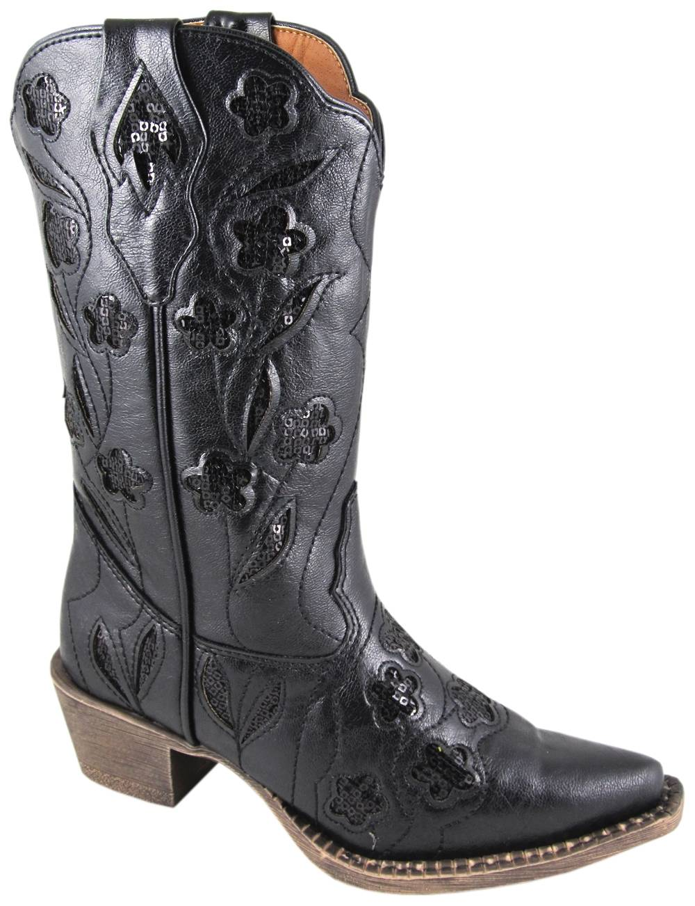 Smoky Mountain Victoria Boot - Youth, Sequin Inlay