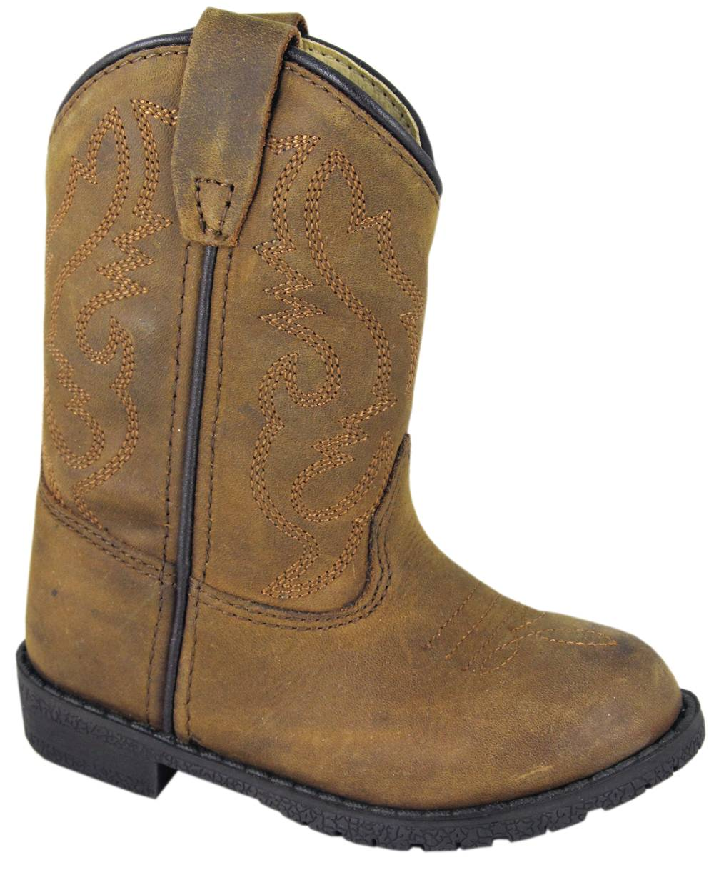 Smoky Mountain Hopalong Western Boots - Toddler, Brown Distress
