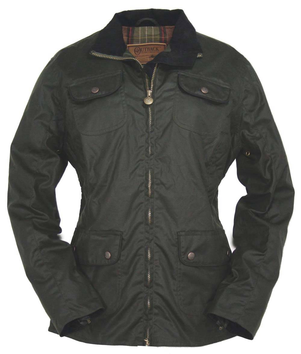 Outback Under the Wire Oilskin Jacket- Ladies