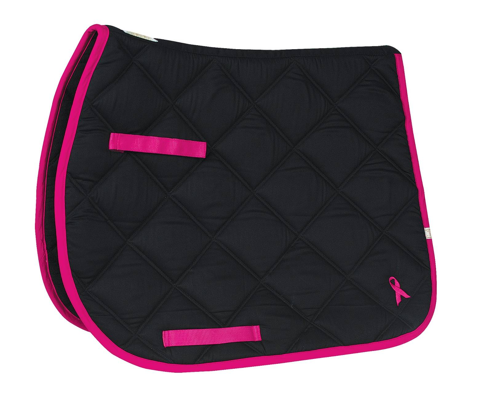 Lettia Black Pad With Single Pink Ribbon - All Purpose