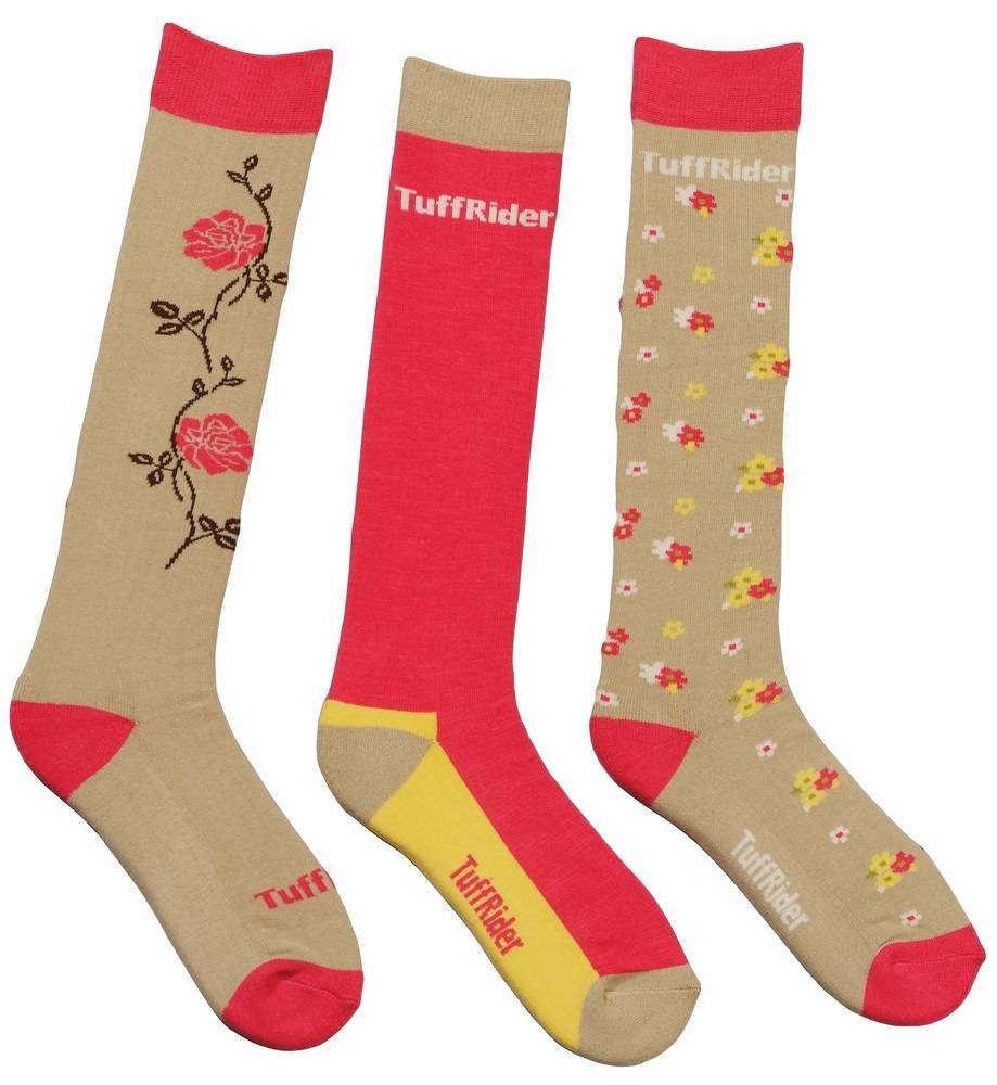 Tuffrider Flora Socks - Ladies, 3 pair