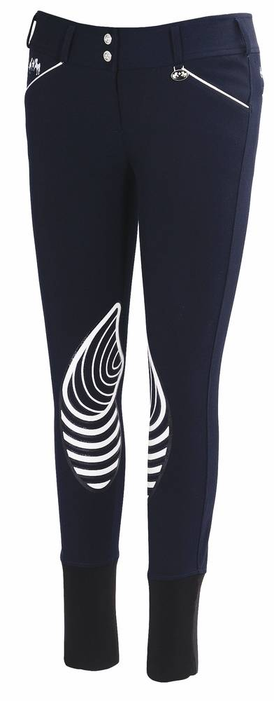 Equine Couture Brittini Breeches - Ladies, Knee Patch