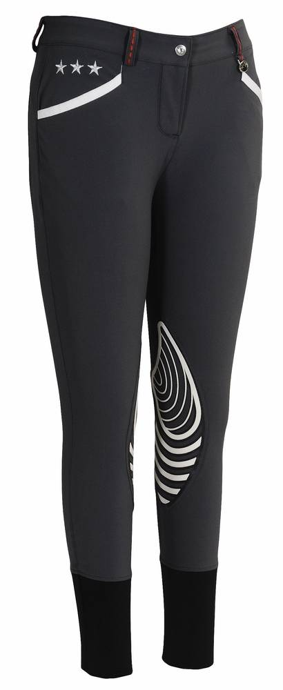 Equine Couture Stars & Stripes Breeches - Ladies, Knee Patch