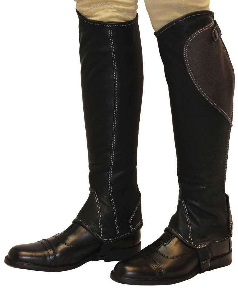 Tuffrider Natasha Leather Half Chaps - Adult