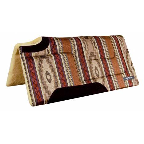 Reinsman Square Cutback/Built-Up Fleece Herculon Running Bull Onyx Print Pad