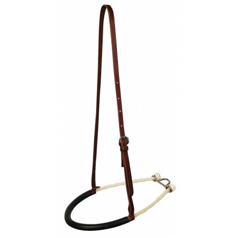 Reinsman Single Rope Noseband With Rubber Nose Rubber Covered Rope Tie Down