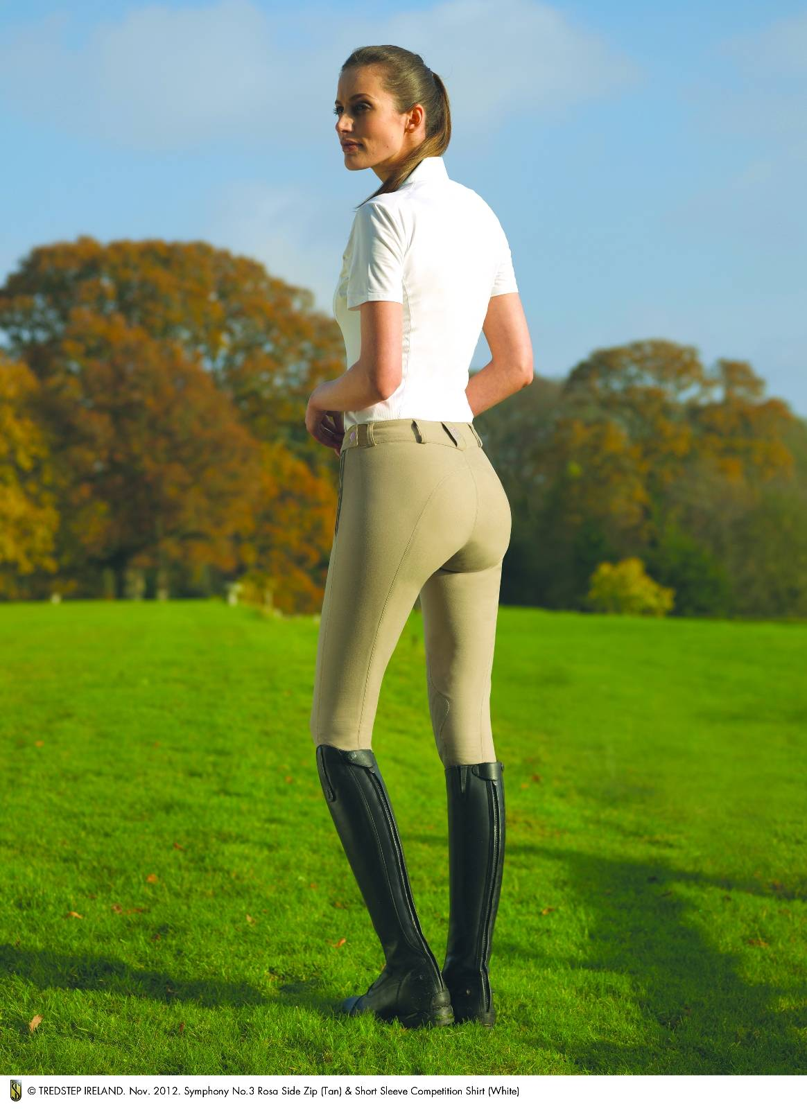 Outlet - Tredstep Rosa Breeches - Ladies, Side Zip, Knee Patch, 34 Long, Tan