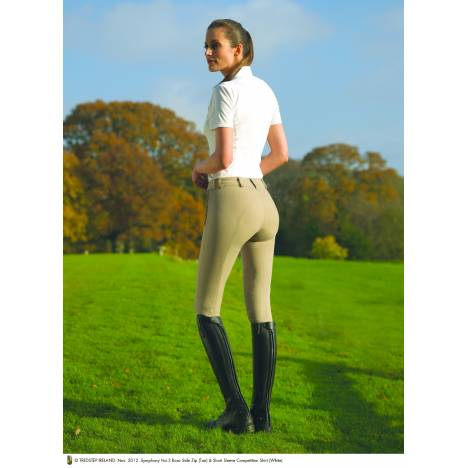 Tredstep Rosa Breeches - Ladies, Side Zip, Knee Patch