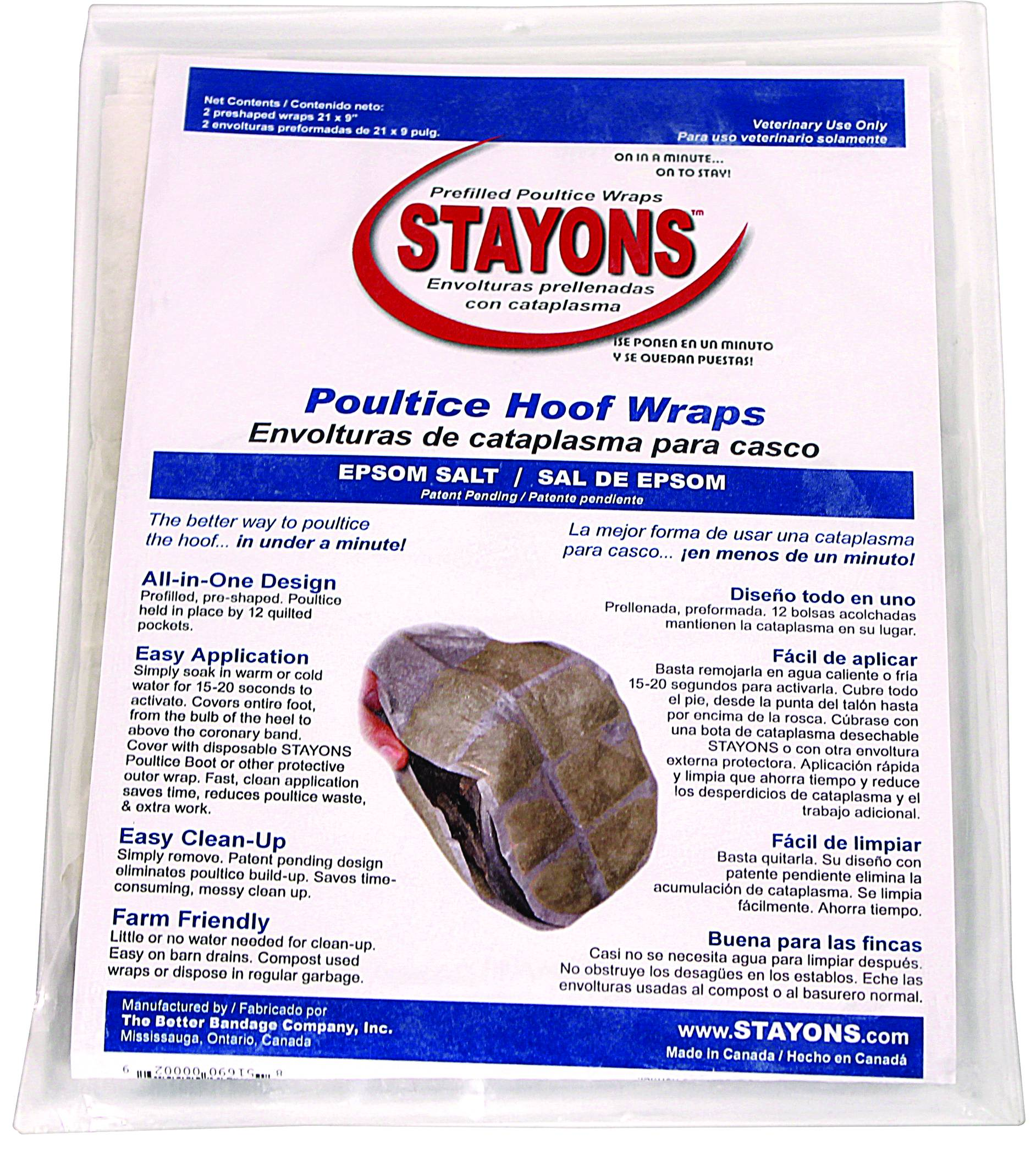Durvet Stayons Poultice Hoof Wraps