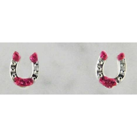 Finishing Touch Horse Shoe with Glitter Earrings
